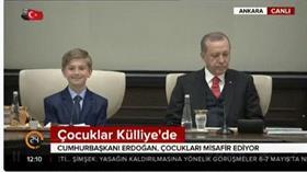 Cumhurbaşkanı Erdogan, çocukları Külliye'de misafir etti