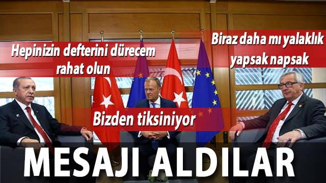 Erdoğan ile görüşme kuyruğu! AB telafi peşinde