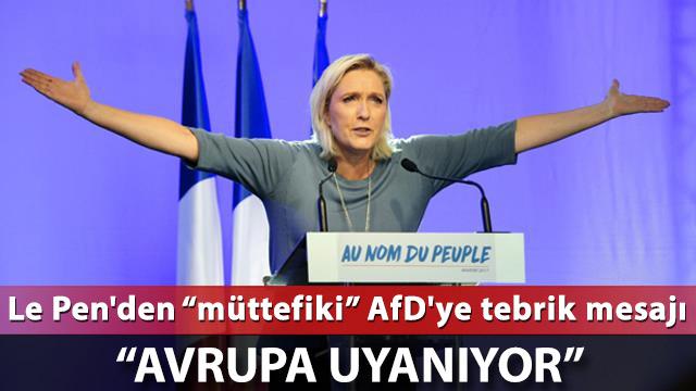Le Pen'den 'müttefiki' AfD'ye tebrik
