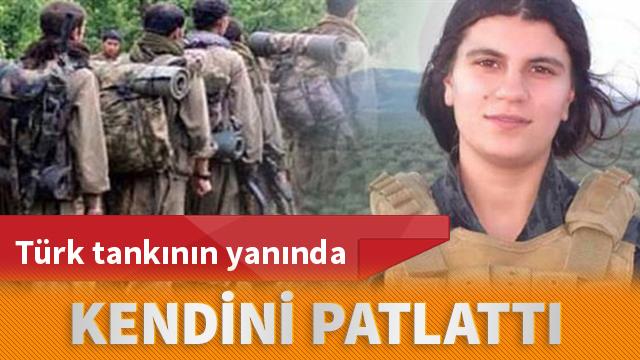 PKK'dan DEAŞ taktiği! Türk tankının yanında kendini patlattı