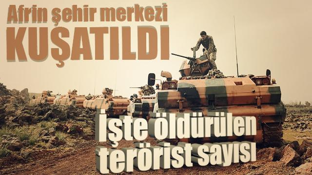 Türk Silahlı Kuvvetlerince, Zeytin Dalı Harekatı'nın başlangıcından bu yana 3393 teröristin etkisiz hale getirildiği bildirildi