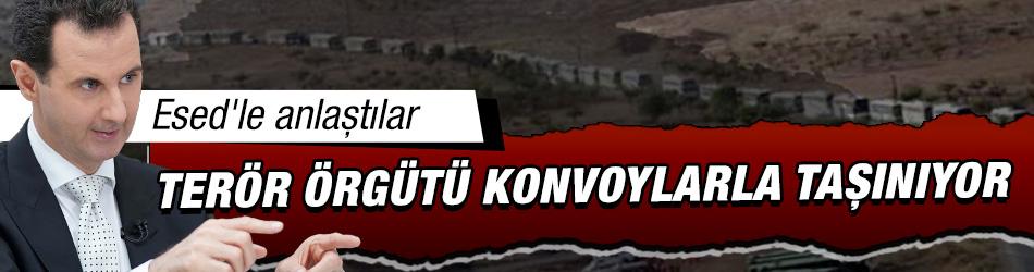 Esed'le anlaştılar: Terör örgütü konvoylarla taşınıyor