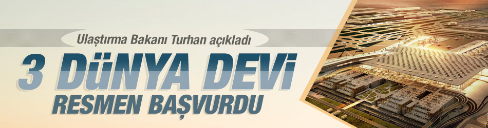 Ulaştırma ve Altyapı Bakanı Turhan, hizmete girdiğinde dünyanın en büyüğü olacak İstanbul Yeni Havalimanı'nda yer kiralamak için UPS, DHL, FedEx gibi önde gelen kargo şirketlerinin başvuruda bulunduğunu belirtti.