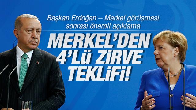 Başkan Erdoğan ve Merkel ortak basın toplantısı düzenliyor