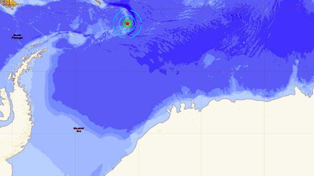 Antarktika açıklarında 7.1 büyüklüğünde deprem