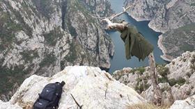 Kanyonda esrarengiz olay... Geriye çantası ve ağaca asılı montu kaldı