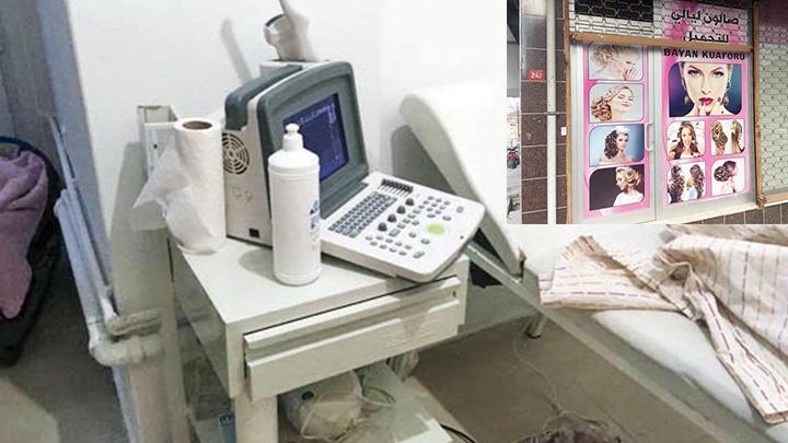 Kuaför görünümlü kürtaj kliniği