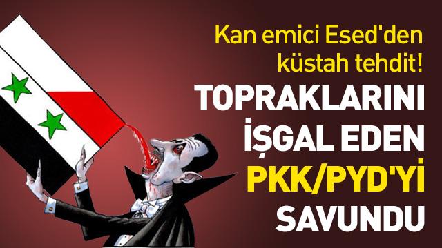 Esed rejiminden Türkiye'ye YPG/PKK tehdidi