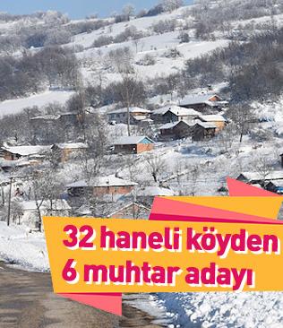 Bursa'da 32 haneli köyde 6 muhtar adayı çıktı