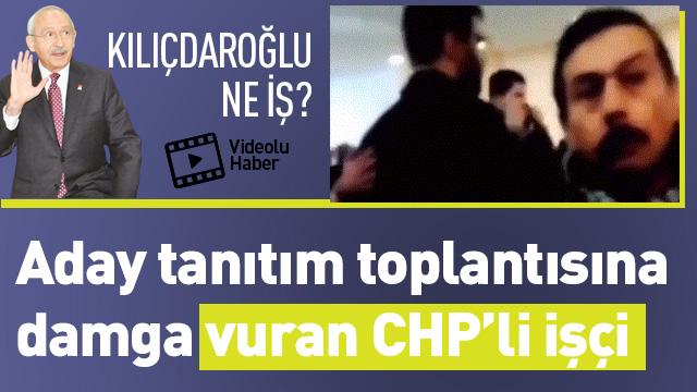 CHP'li işçinin aday tanıtımında maaş isyanı