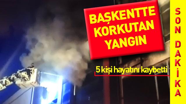 Ankara'da mobilyacılar sitesinde yangın çıktı