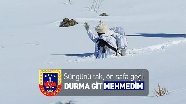 Mehmetçik 1 metre karın içinde operasyonda