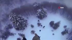 Donma tehlikesi geçiren vatandaşların yardımına asker yetişti