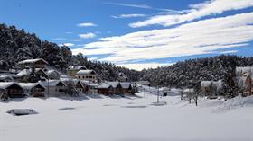 Eğriçimen Yaylası'nda kış güzelliği