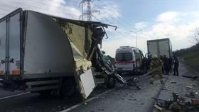 Kemerburgaz yolunda kaza: 1 yaralı