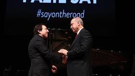 Başkan Erdoğan, ünlü besteci ve piyanist Fazıl Say'ın konserini izledi