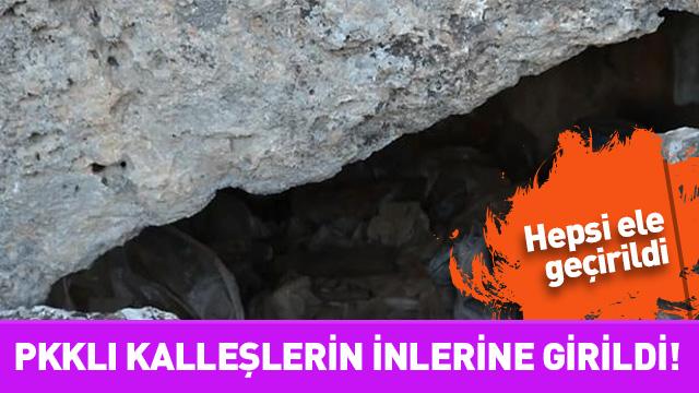PKKlı kalleşlerin inlerine girildi! Hepsi ele geçirildi