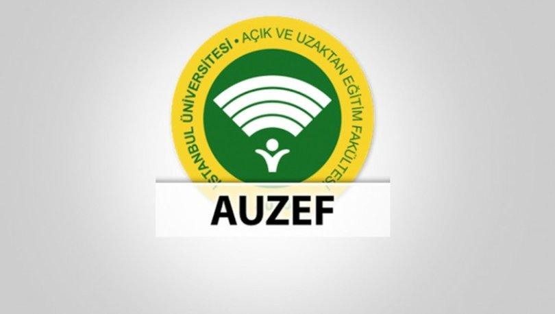 AUZEF sınav sonuçları açıklandı mı İstanbul Üniversitesi AUZEF bütünleme tarihleri