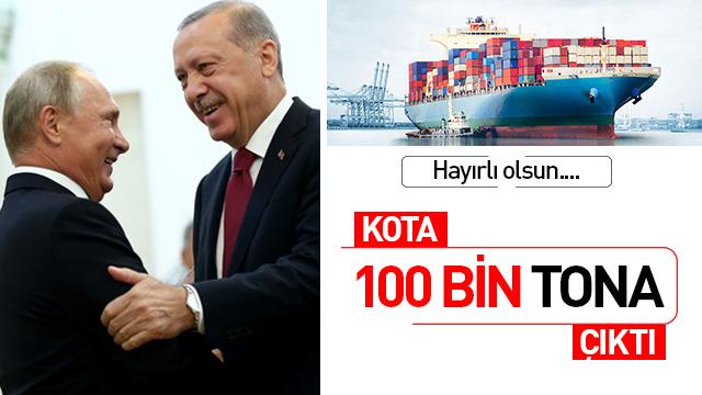 Türk domatesi kotasını 100 bin tona çıkardılar