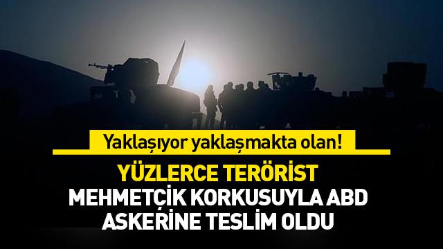 Kahraman Mehmetçiklerimizin operasyonu öncesi yüzlerce DEAŞ'lı terörist ABD'ye teslim oldu