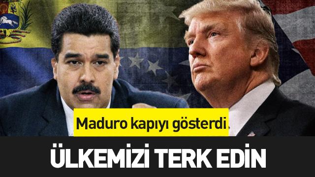 Venezuela Devlet Başkanı Maduro ABD ile tüm diplomatik ilişkileri kestiklerini ve ABD'li diplomatların ülkeyi 72 saat içinde terk etmelerini istedi