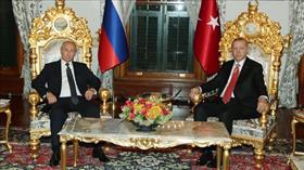 Başkan Erdoğan ve Putin görüşmesi sona erdi
