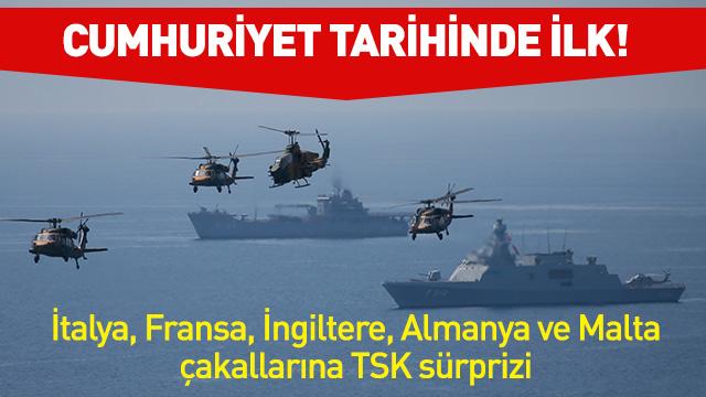 7 gemi Türk savaş gemileri tarafından püskürtüldü