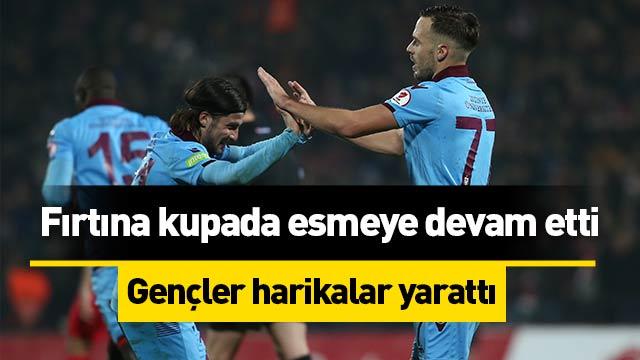 Trabzonspor, Ziraat Türkiye Kupası'nda çeyrek finale yükseldi