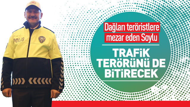 Soylu, trafik polislerinin yeni kıyafetini giydi
