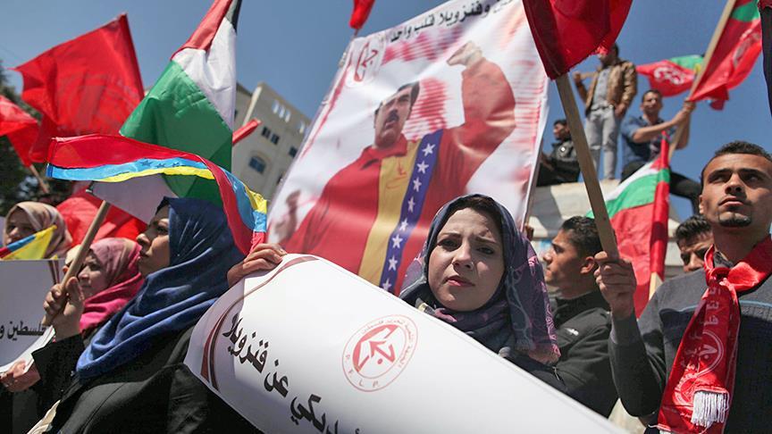 Filistin'den Venezuela yönetimine destek