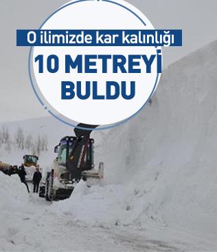 Muş'ta kar kalınlığı yer yer 10 metreye ulaştı