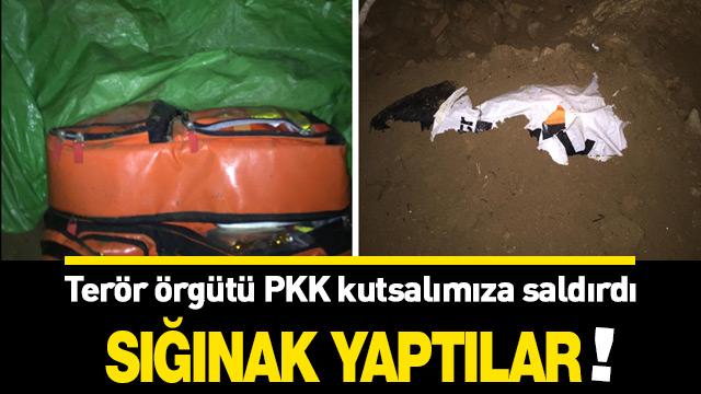 Terör örgütü PKK caminin altına sığınak yapmış