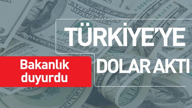 Son bir ayda Türkiye'ye dolar aktı