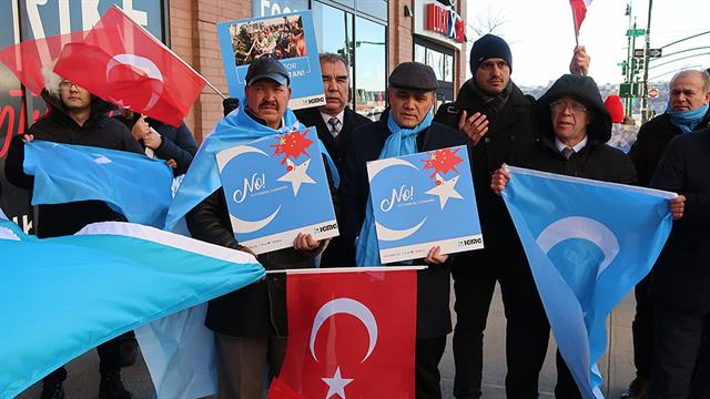 Bildergebnis für New York'ta Çin yönetiminin Doğu Türkistan'daki baskıcı politikaları protesto edildi