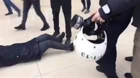 Diyarbakır Valiliği video görüntüleriyle ilgili iddiaları yalanladı! Polisi ısıran HDP'li vekilin düşme anı kamerada!