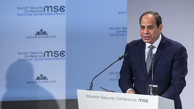 Darbeci Sisi'den Filistin sorununun çözümü için iş birliği çağrısı