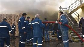 Hatay'da korkutan fabrika yangını