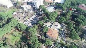 Anadolu yakasına 1200 yataklı hastane yapılacak alan havadan görüntülendi