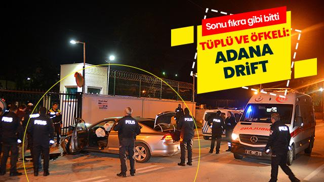 Polisten kaçtı İl Emniyetin kapısına çarpıp kaza yaptı