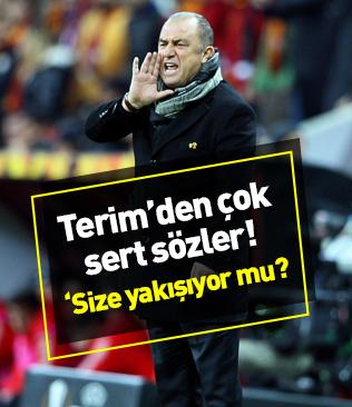 Fatih Terim'den futbolculara sert uyarı! 'Size yakışıyor mu?'