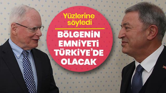 'Bölgenin emniyeti Türkiye tarafından sağlanmalı'