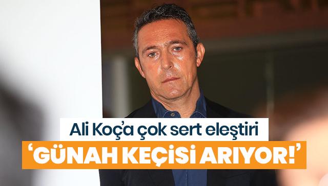 Nihat Özdemir'den Ali Koç'a sert eleştiri! 'Bir günah keçisi arıyorlar anlaşılan'