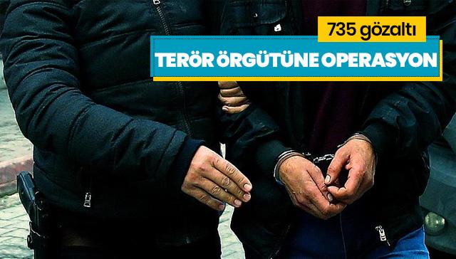 Saldırı hazırlığındaki teröristlere yönelik operasyon: 735 gözaltı