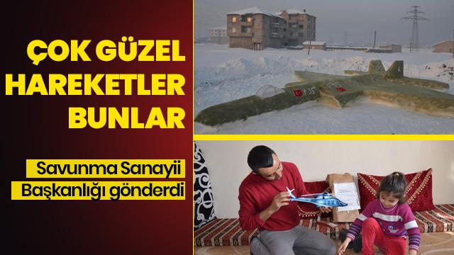 Yüksekovalı inşaat işçisi Karahan'a helikopter maketi hediyesi