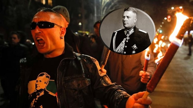 Neo-Naziler Sofya'da General Hristo Nikolov Lukov için yürüdü