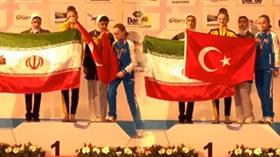 Selen Gündüz İranlı rakibine bayrak dersi verdi