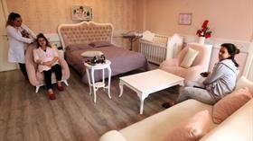 Beş yıldızlı hastane odasında jakuzili, kuaförlü hizmet