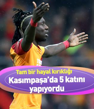 Galatasaray'da ortalama 2 kez topla buluşan Diagne, Kasımpaşa'da bu sayının 5 katına çıkıyordu