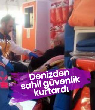 Gezi teknesinde rahatsızlanan yolcu, Sahil Güvenlik botuyla alındı