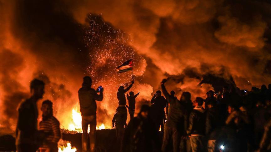Katil İsrail askerleri Gazze'de 7 Filistinliyi yaraladı